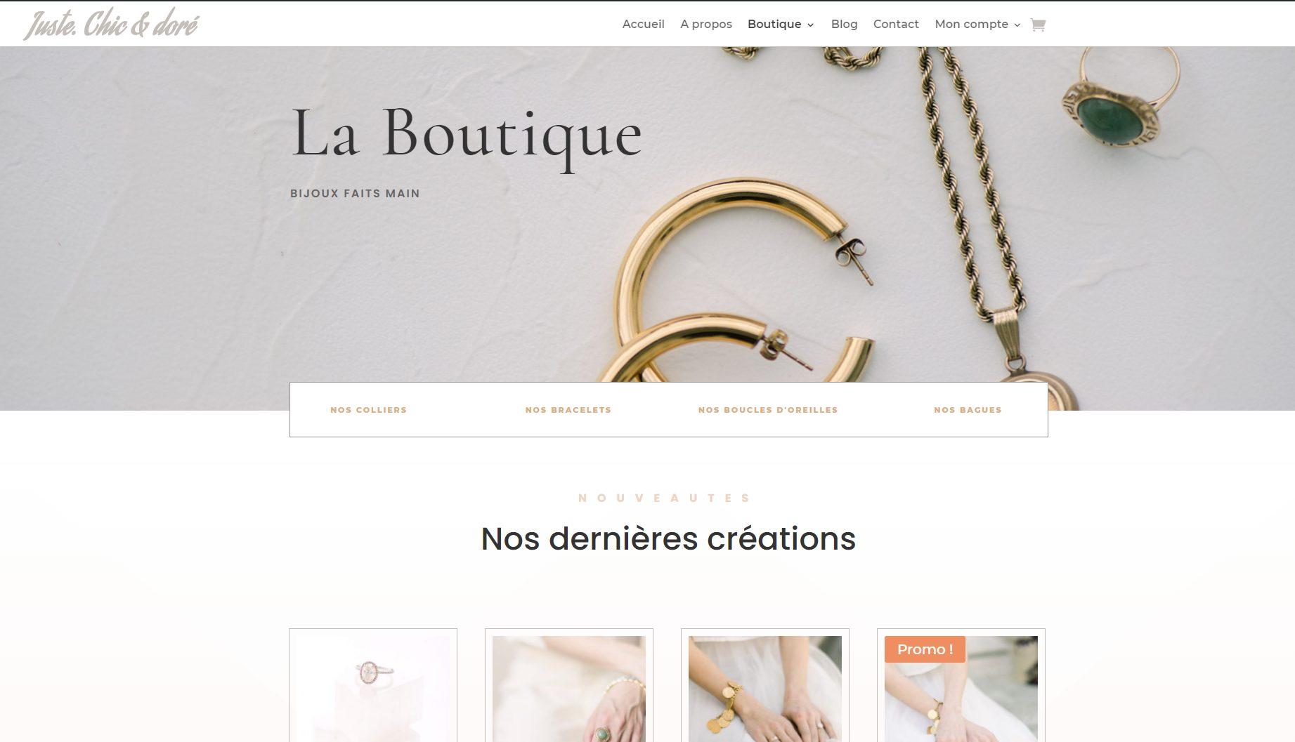 Site Juste Chic et Doré